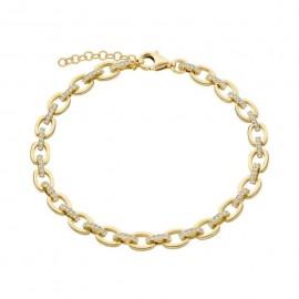 Bracciale Donna Laure P. in argento 925% dorato con zirconi bianchi ref-BR000GB